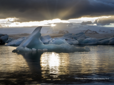 Icebergs in the Midnight Sun