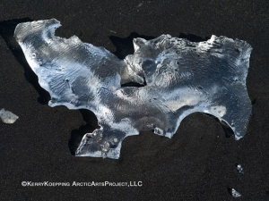 Ice Diamonds on Black Lava Beach