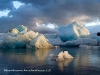 Jokullarlon Icebergs at Sunset